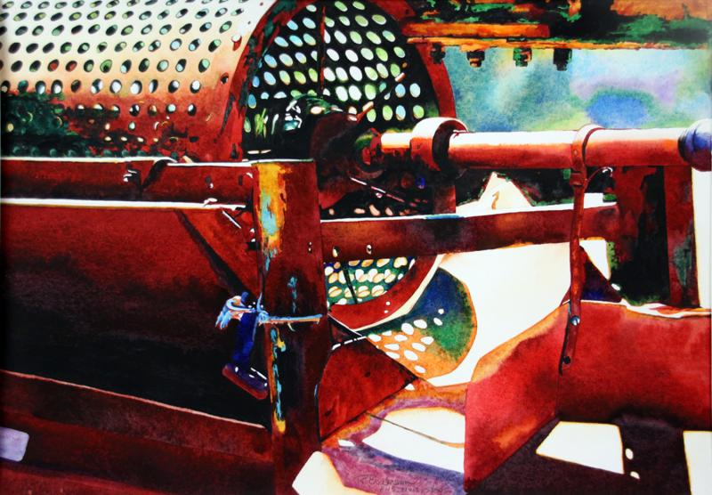 Colorful Old Farm Machinery