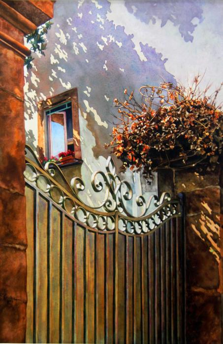 Italian Villa Window and Gate