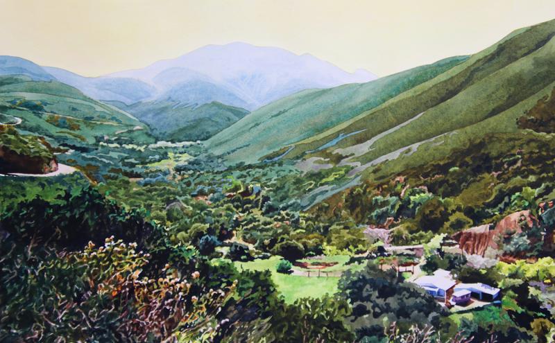 View down mountain to Anza Borrego